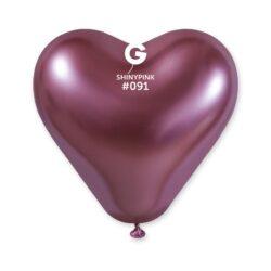 #091 Shiny Heart Pink 199154