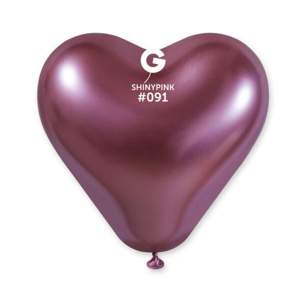 Shiny Heart Shape Pink #091 – 12in