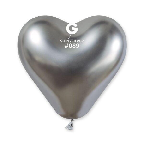Shiny Heart Shape Silver #089 – 12in