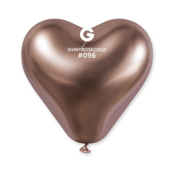 Shiny Heart Shape Rose Gold #096 – 12in