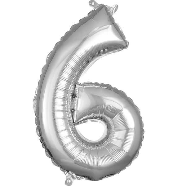 Number 6 Silver – 7in