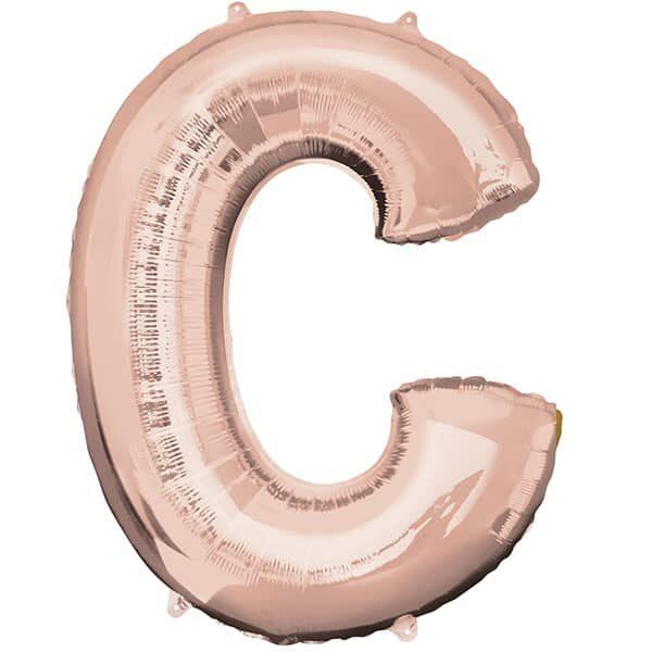 Letter C Rose Gold – 34in