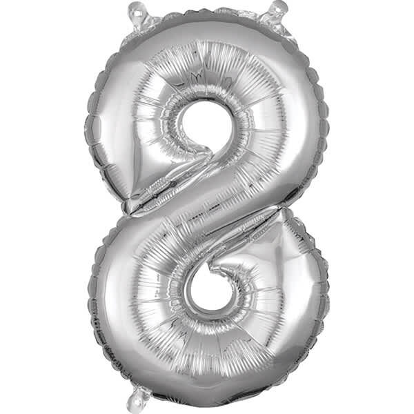 Number 8 Silver – 7in