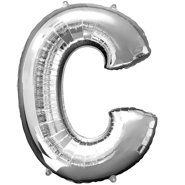 Letter C Silver – 34in