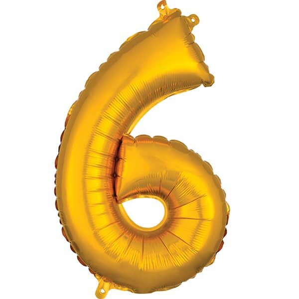 Number 6 Gold – 7in