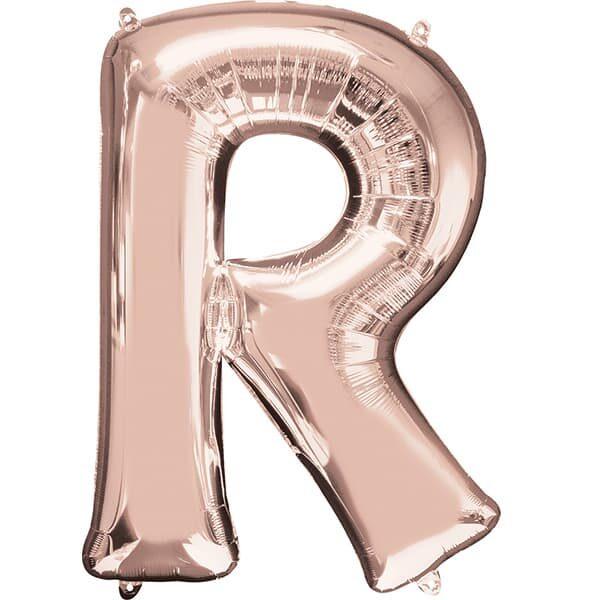Letter R Rose Gold – 34in