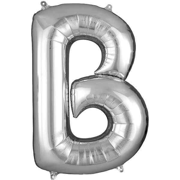 Letter B Silver – 7in