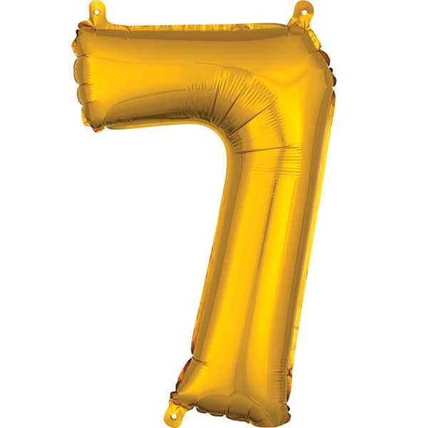 Number 7 Gold – 7in