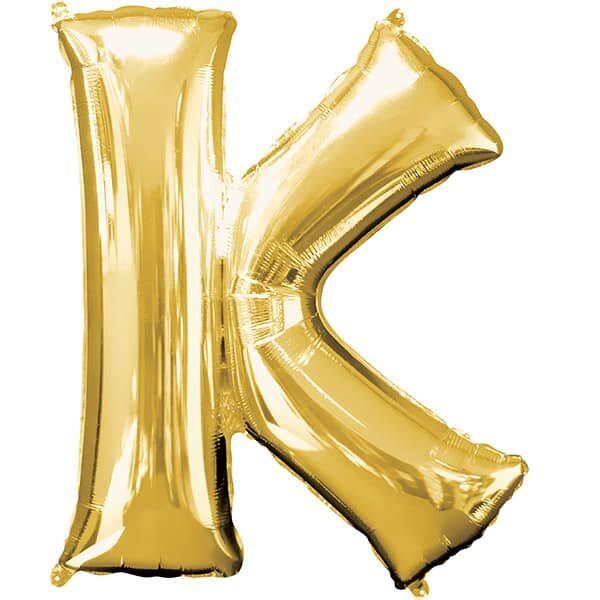 Letter K Gold – 7in