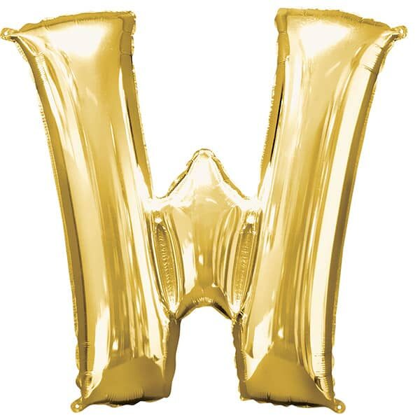 Letter W Gold – 7in