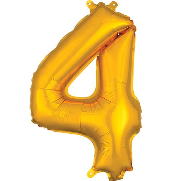 Number 4 Gold – 7in