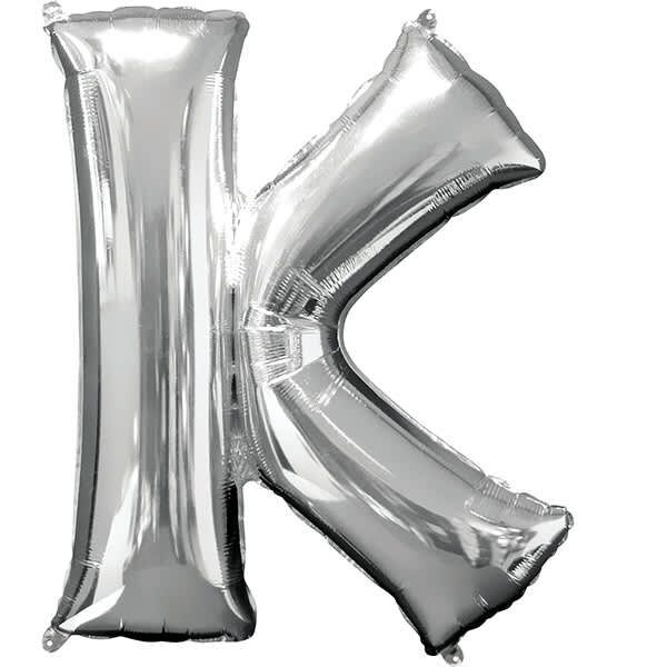 Letter K Silver – 7in