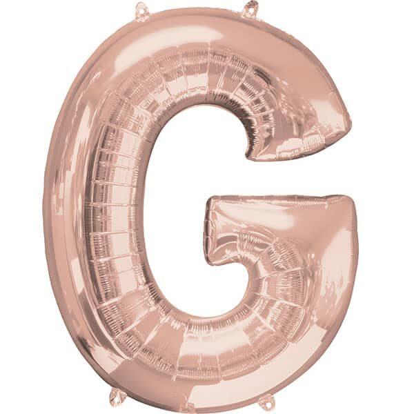 Letter G Rose Gold – 34in